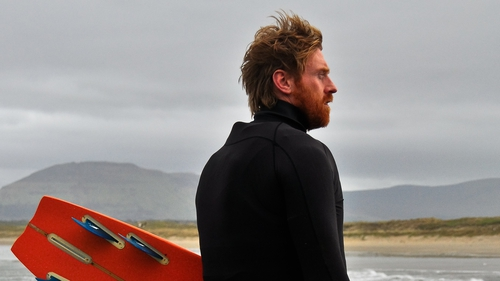 Al Mennie paddleboarded from Northern Ireland to Scotland to raise money for charity (photograph courtesy of Conn Osborne)