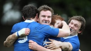 Mark Sexton, brother of Ireland international Jonathan, celebrates a try during Mary's narrow victory over Garryowen