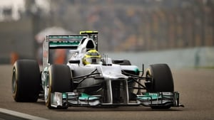 Nico Rosberg claimed pole at the 111th of asking