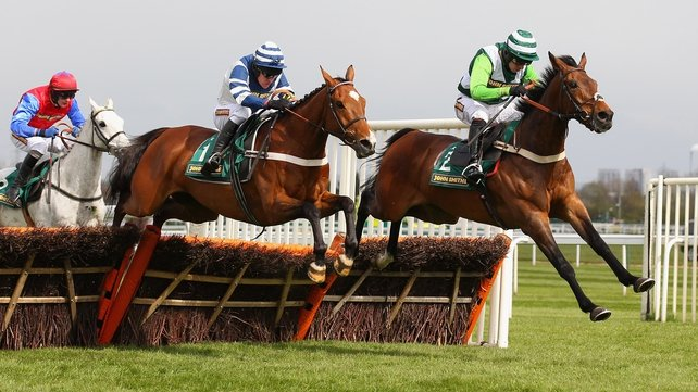 Oscar Whisky (blue silks) and Rock On Ruby (green silks) could both be in action at Cheltenham on Saturday, with the latter holding an entry in the always informative International Hurdle