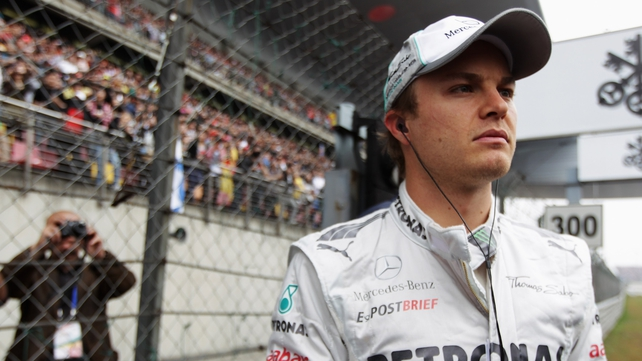 Nico Rosberg as he prepared to drive in the Chinese Grand Prix
