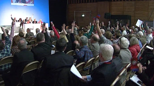 Labour delegates debated justice and foreign affairs motions