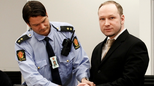 Anders Behring Breivik said he does not recognise Norwegian courts