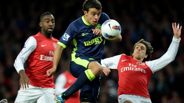 Franco Di Santo silenced the Arsenal faithful with his opener for Wigan