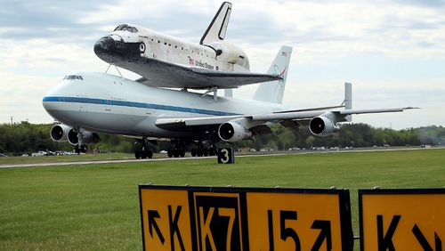 It was take-off and not lift-off for Discovery this morning