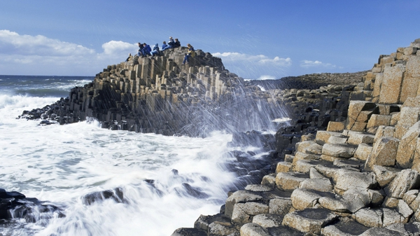 The Olympic torch relay visited the Giant's Causeway