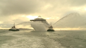 The Grand Princess is the length of three football pitches and 17 decks high