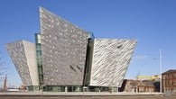 Titanic Belfast's magnificent exterior façade is clad in 3,000 individual shards of silver anodized aluminium