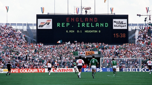 Republic of Ireland's first game at Euro '88