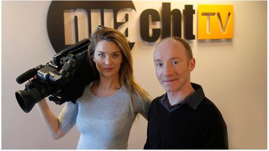 Darach Mac Con Iomaire & Sineád Ní Fhlatharta.