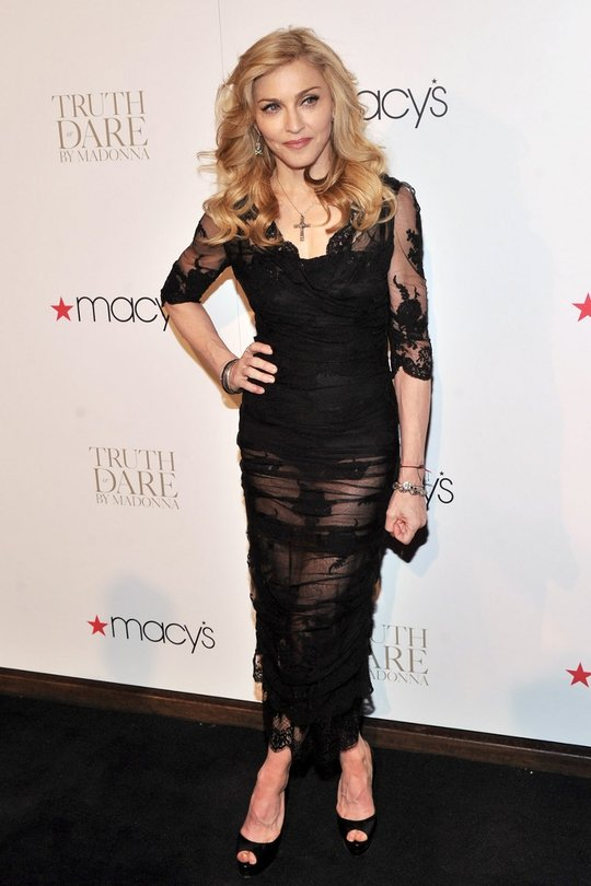 There is no doubt Madonna looks impeccable at the launch of her fragrance in NYC. This was going to be amazing, before various website posted close-ups of her disastrous-looking toes... put off for life now!
