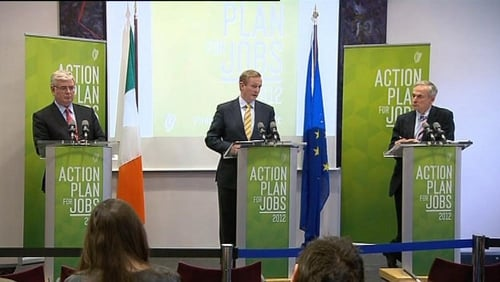 "Taoiseach Enda Kenny said ""this is just the first step in an annual action plan to rebuild our economy""."