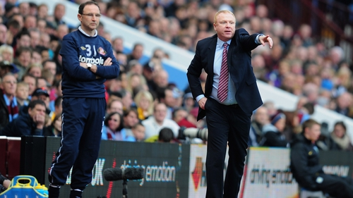 Past and present - Martin O'Neil & Alex McLeish on the Villa touchline