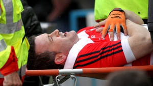 Donal Óg Cusack (35) was stretchered off after suffering a serious leg injury during the win over Tipp