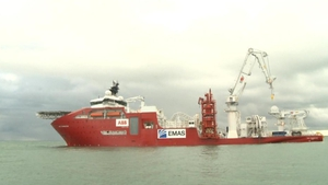 World's largest cable-laying ship in Dublin