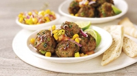 Sweet Chilli Turkey Balls with Sweetcorn Salsa - A great dish from WeightWatchers. ProPoints value