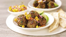 Sweet Chilli Turkey Balls with Sweetcorn Salsa