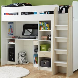Henry Bunk Bed Frame with Desk, Shelves and Wardrobe from, €439