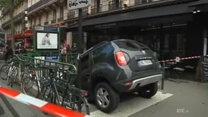 The driver confused the metro entrance with a car park