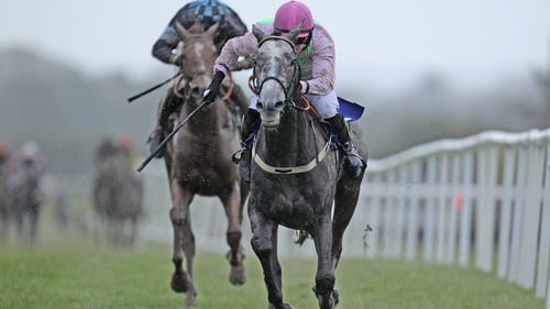Willie Mullins' grey made a satisfactory start over hurdles