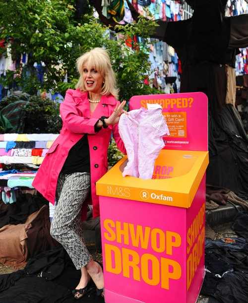 Actress Joanna Lumley unveiled as the ambassador of the initative and M&S' Plan A scheme