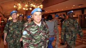 An advance team of UN monitors arrived in Syria this week