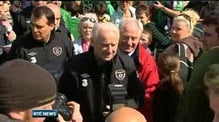 Giovanni Trapattoni supports climb of Croagh Patrick