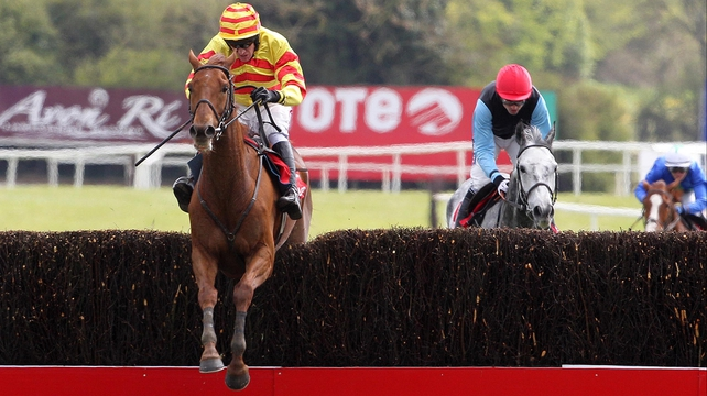 China Rock, seen here winning the Punchestown Gold Cup, has suffered a setback and will not return until Christmas