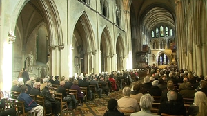 A number of figures from the arts world also attended the service