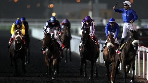 Planteur (second left), finishing third in the Dubai World Cup on his debut for Marco Botti, could return for France for the Prix d'Ispahan