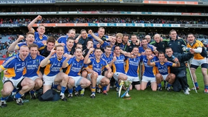 Wicklow celebrate their Division 4 success on the hallowed turf of Headquarters