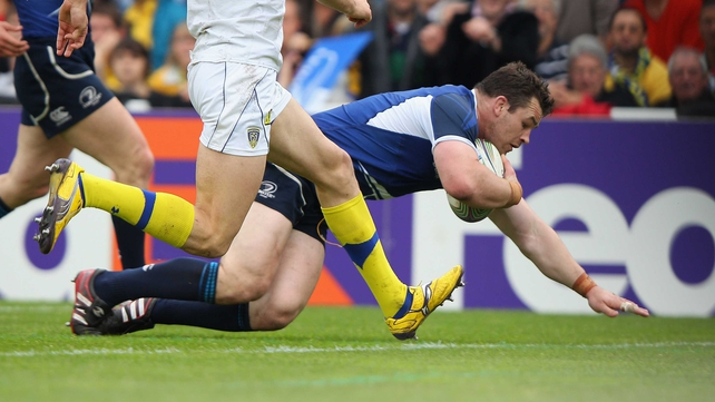 Cian Healy's converted try pushed Leinster ahead in Bordeaux