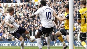 Rafael van der Vaart put Tottenham ahead in the 22nd minute