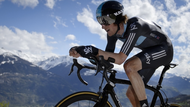 Bradley Wiggins is content with his previous victory in the Tour de France