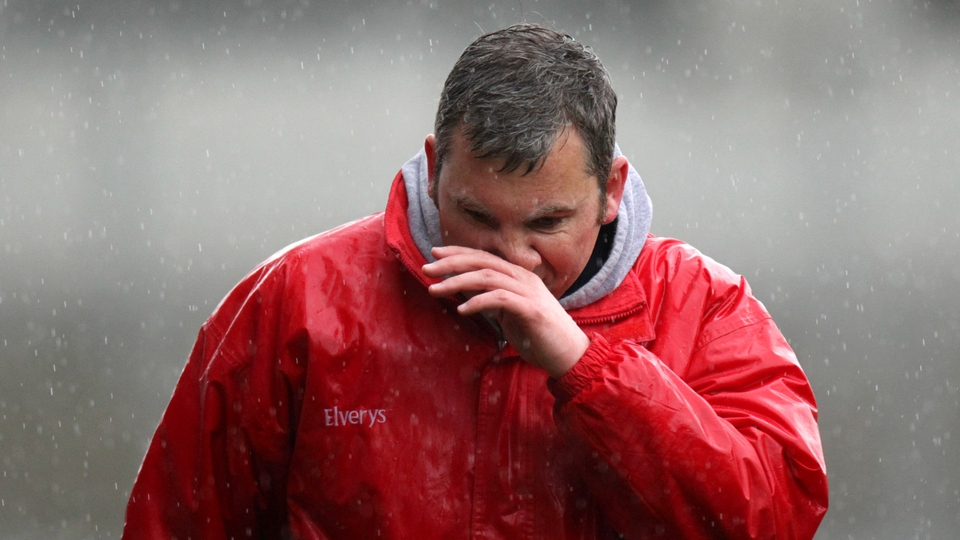 Mayo boss James Horan battled through the inclement weather at Croke Park