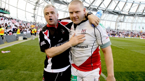 Brian McLaughlin and Tom Court after Ulster semi-final triumph