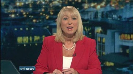 Anne Doyle reads her final news broadcast on 25 December 2011.