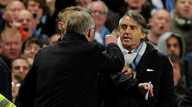 Alex Ferguson and Roberto Mancini will lock horns again this weekend