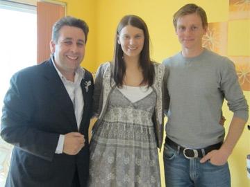 Franc with Emma Daniel and Michael Foley
