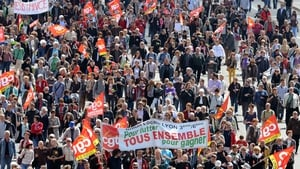 Thousands march in May Day rally in Lyons, France
