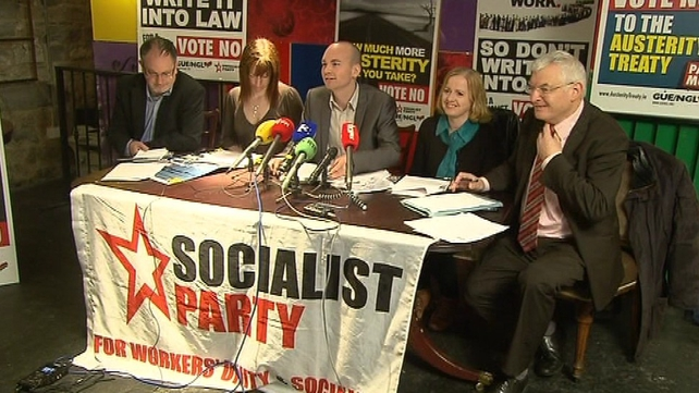 The Socialist Party launched its referendum poster campaign this morning