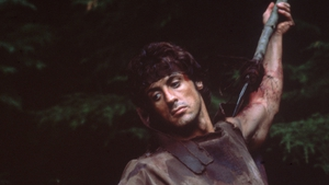Stallone in the first Rambo film