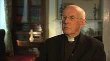 Cardinal Seán Brady speaks to Tommie Gorman following the BBC 'This World' programme