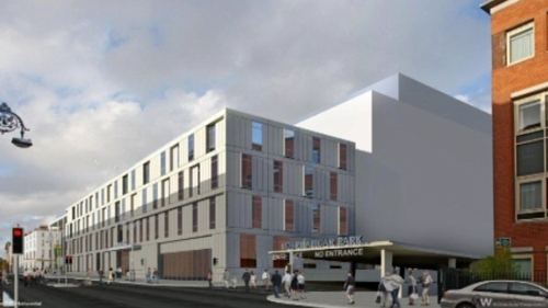 The height of the hospital has been reduced to six storeys