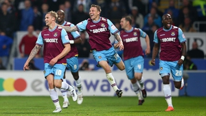 Jack Collison (L) put the Hammers on their way with a first half double