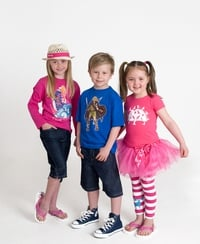 Cúl kids in Irish designs
