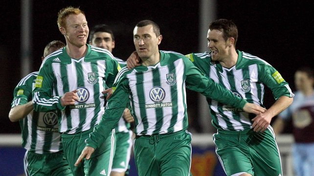 Jason Byrne was in the goals, once again, as Bray beat UCD