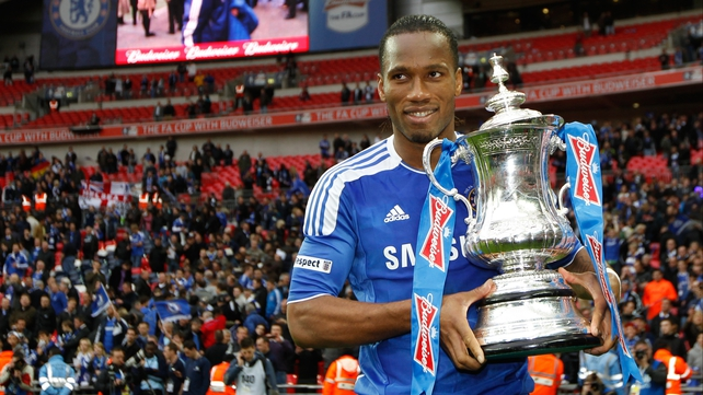 Didier Drogba became the first man to score in four FA Cup finals