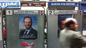 Final opinion polls gave Francois Hollande a slight lead over Nicolas Sarkozy