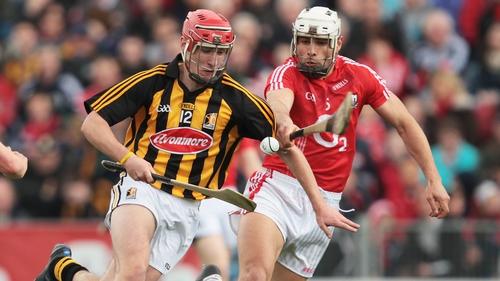 Cork's Sean Og O hAilpin tackles Cillian Buckley of Kilkenny